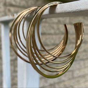 2/$16 Gold Toned Stud Hoop Earrings